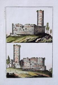 Ruine-Burg-Schloss-chateau-fort-Ritter-castello-rudere-Fels-Wald-Moos-Gemaeuer