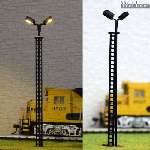Details about  /4 pcs HO//OO Model Lamp Yard Light warm white LED made Lamppost long life #R44