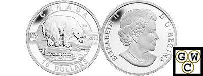 2013 Proof $10 O Canada Beaver .9999 silver COIN/&COA ONLY