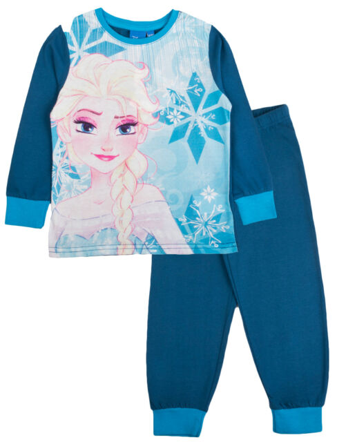 9c43f902f Girls Disney Frozen Pyjamas Kids Elsa Anna Character PJs 2 Piece ...