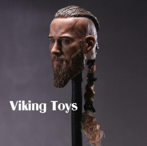 "1//6 Viking Captain Head Sculpt For 12/"" Headplay Hot Toys Male Figure ❶USA❶"