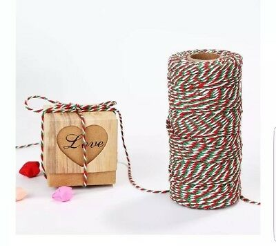 30M Reel of Red /& White Christmas Parcel Twine String