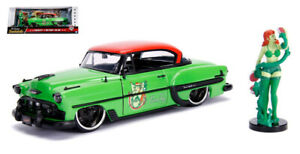 Dc Bombshells Poison Ivy With 953 Chevy Bel Air Green / Orange 1:24 Model Exquis (En) Finition