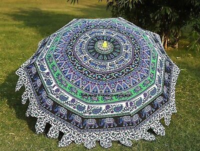 Elephant Mandala Patio Umbrella Yard Garden Sun Shade Parasol