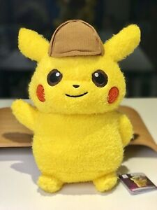 Bran-New-Detective-Pikachu-Plush-Stuff-Toy-Pokemon-Center-Japan-BANPRESTO-Rare