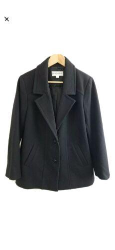 Pendleton Black 100% Merino Wool Blazer Women's L