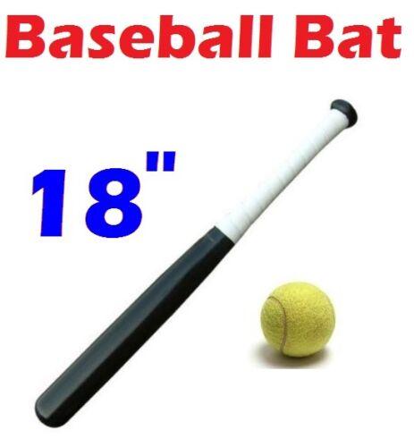 "Free Tennis Ball Garden Play Set QASCO Black 18/"" Wooden Rounders Baseball Bat"