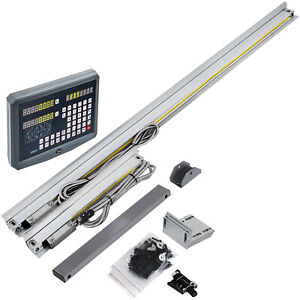 2//3 Axis Digital Readout Kit DRO Display Linear Glass Scale For Milling Lathe US