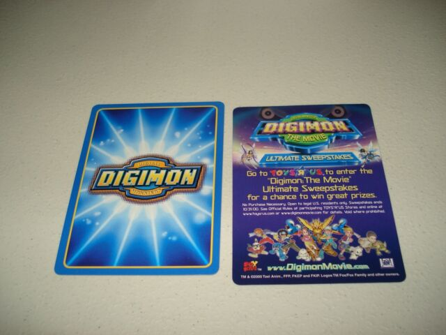 BANDAI DIGIMON THE MOVIE INSERT /& CARD MO-02 LOPMON-GOOD CONDITION