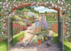 The House Of Puzzles - 500 PIECE JIGSAW PUZZLE - Walled Garden Unusual Pieces