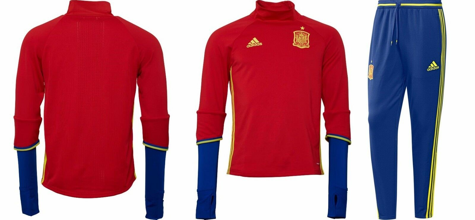 Adidas Spanien Training Set Trainingsanzug 1516, Navy rot