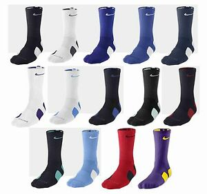 official photos 37c43 87c0d Image is loading NEW-NIKE-ELITE-BASKETBALL-CREW-SOCKS-ASST-COLORS-