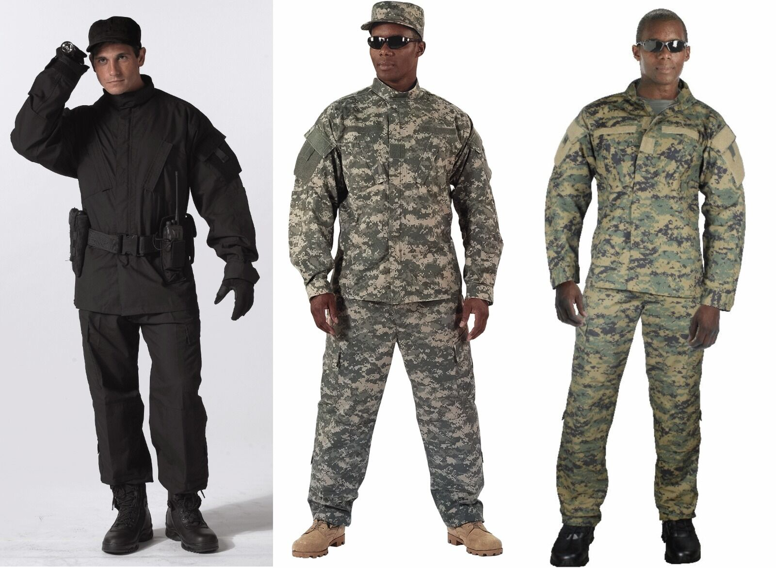 redhco Army Combat Camouflage Rip Stop Uniform Made To Military Specs