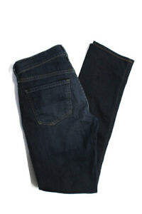 Citizens-of-Humanity-Womens-Ava-Low-Rise-Straight-Leg-Jeans-Blue-Cotton-Size-27