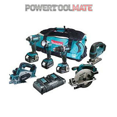 Makita DLX6067PT 18V LXT 6 Piece Combo Kit with 3 x 5.0Ah Batteries in Bag