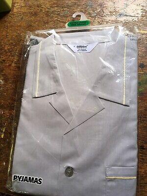 Generoso True Vintage Con St Michael Pigiama Xl Nuovo Con Confezione M & S Grigio Pallido Giallo Tubazioni 44-46- Grande Assortimento