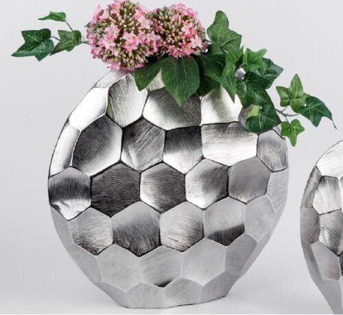 624031 vase rond 30 cm alu Palazzo avec Matt gebürseteter Surface