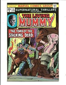 SUPERNATURAL-THRILLERS-13-THE-LIVING-MUMMY-June-1975-VF