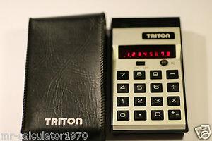RARE-VINTAGE-Triton-Model-1400-calculator-By-Radofin-Red-Led-1974