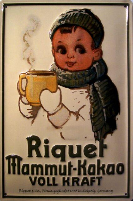 Riquet Joven Mammut - Cacao Letrero De Metal 3d EN RELIEVE CARTEL LATA 20 x 30