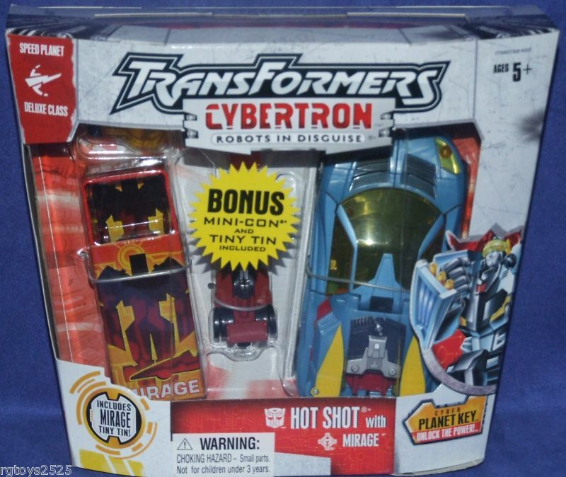 Transformers Cybertron Speed Planet Deluxe Hot Shot w Mirage New Factory Seal
