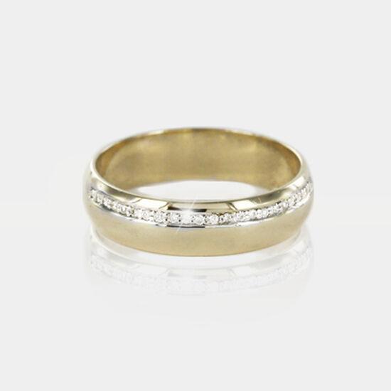 Hallmarked 9ct oro Giallo O Bianco Diamante Set Set Set 5mm 20pts Offset Anello Nuziale ca10b0