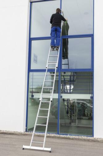 Günzburger Stufen Glasreinigerleiter 2-Stufiges Einzel-Unterteil Nivello 0,77 m