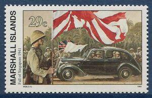 Charmant Îles Marshall 1991 Guerre Mondiale 2 Ww Ii Scott 293 Chute De Singapour W28 Nh-afficher Le Titre D'origine Longue DuréE De Vie