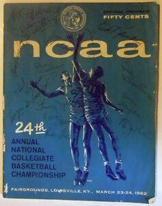 1962-NCAA-Basketball-Championship-Program-Autographed-by-15-Bearcats-Vintage