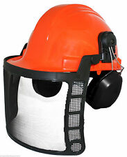 Brand New Forester Safety Helmet with face shield and hearing protectors