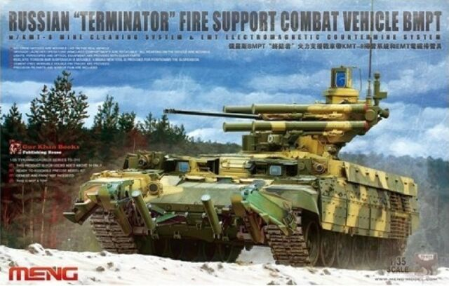 "Meng Model 1/35 TS-010 Russian ""Terminator"" BMPT Fire Support Combat Vehicle"