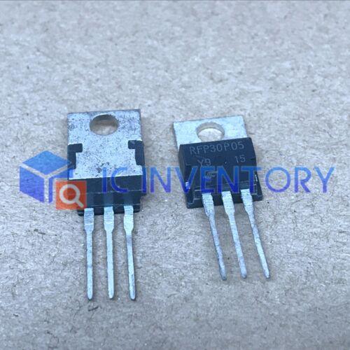 0.065 Ohm, 10PCS New RFP30P05 Manu:Fairchild Encapsulation:TO-220 30A 50V