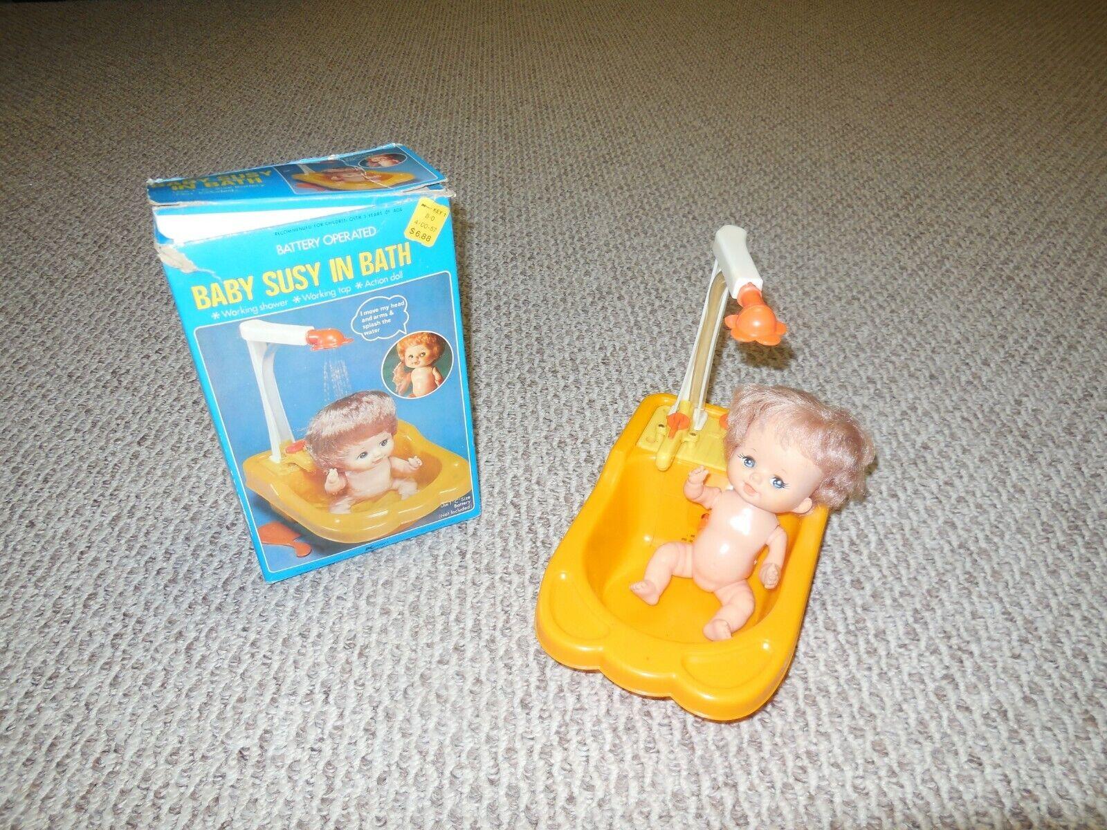 Vintage Baby Susy In Bath
