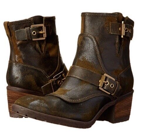 New Donald J Pliner Delta Espresso Vintage Suede Leder Ankle Stiefel  6.5 328