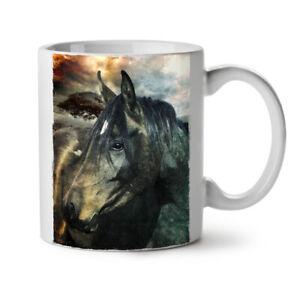 Wild Animal Horse Face NEW White Tea Coffee Mug 11 oz | Wellcoda