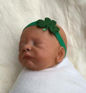 Vintage Green St Patrick/'s Day Baby//Toddler//Girl Headband,Christmas Headband