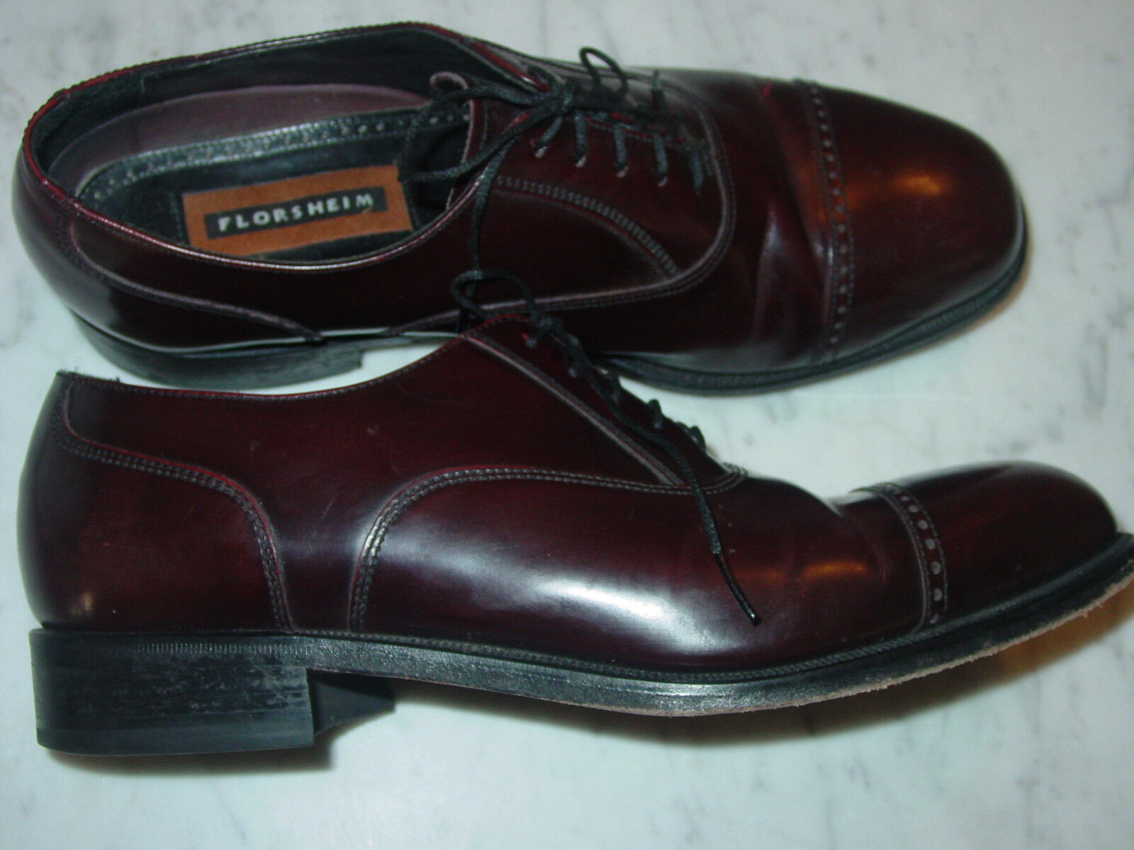 Florsheim LEXINGTON Uomo Burgundy Size Pelle 17067-05 Cap Toe Oxford Shoes! Size Burgundy 9D 656a62