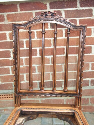 EARLY VICTORIAN ELM CARVED CHAIR