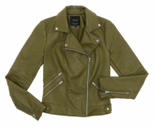 ZARA TRAFALUC Leather Jacket XS Womens Cropped Vtg