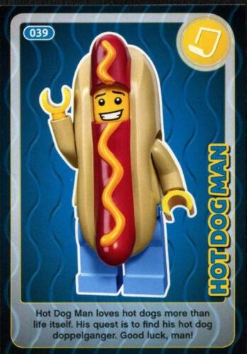 Hot Dog Man #39 Sainsbury/'s Create The World Lego Minifigures Card C381