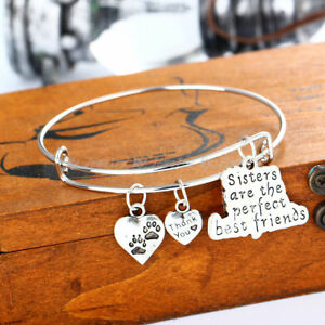 Sister-Are-the-Perfect-Friend-Thank-You-Dog-Paws-Heart-Pendant-Bracelet-Bangles