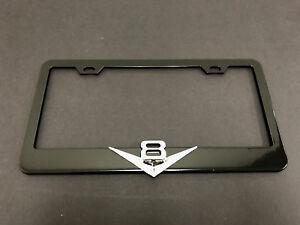 """1pc 3D /""""GTI/"""" Emblem Black Metal License Plate Frame Holder"""