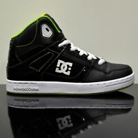 Dc Shoes Rebound Black Yellow Lime Youths Kids Trainers