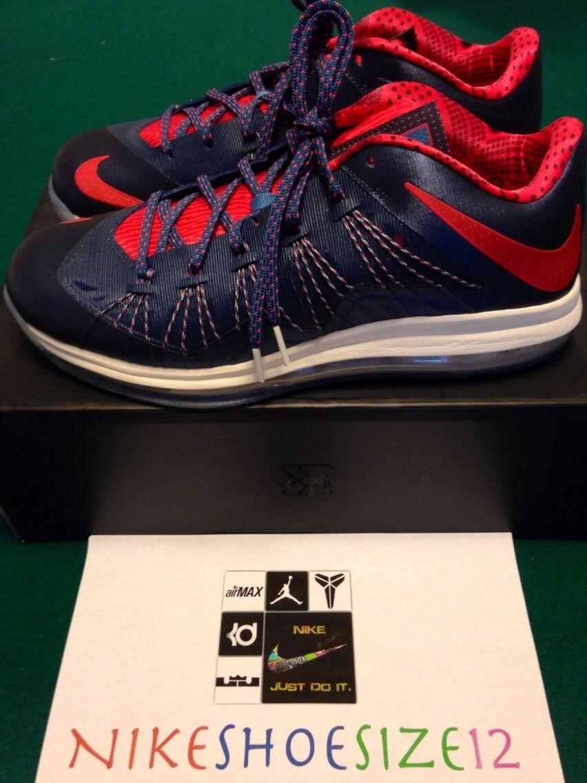 Nike air max lebron x 10 basso blue-red usa sz 12 - 4 luglio