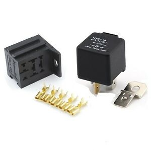 12V 4 Pin 40 Amp Normally Open Automotive Relay With Mounting Base - Automotive Relay Normally Open