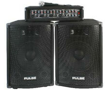 """NEW PA DJ System Set - 10"""" Speakers - Amplifier - Mixer - Microphone"""