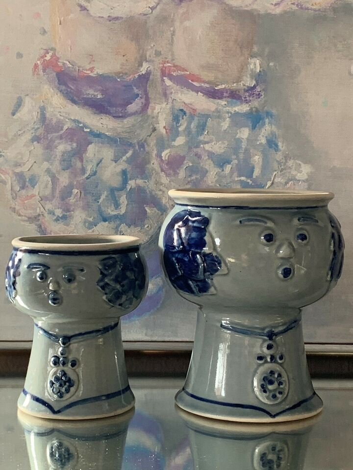 Keramik, Potte damer, Retro