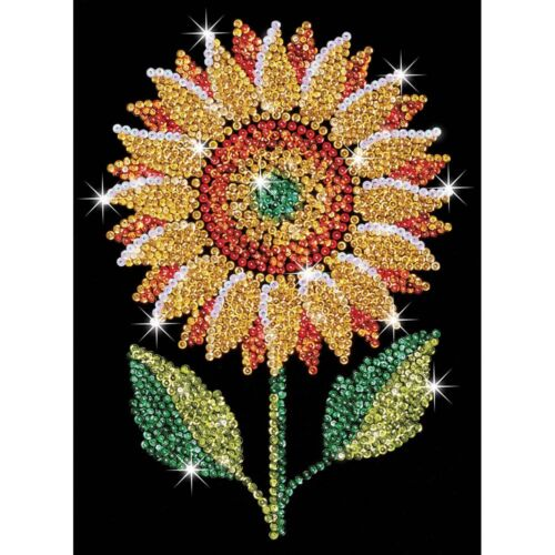 KSG Sequin Art Original Paillettenbild Sonnenblume 1216