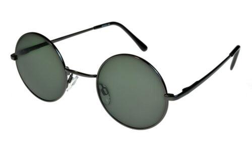 ML i*sunglasses Round John Lennon Style Elite Sunglasses Green Lenses Regular