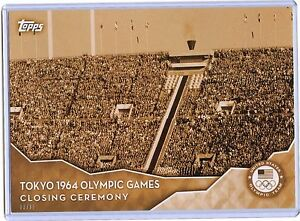 2016 Topps Olympic Gold 5X7 Jumbo Size #CC-11 Closing Ceremony TOKYO!! 03/10!!